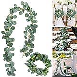 The Card Zoo GTSP - Guirnalda de eucalipto artificial, 6 pies, para colgar plantas de vides falsas para boda, decoración de pared, arreglo de flores para decoración de verdor de mesa, festivales,...
