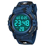 SOKY Watches for Kids 5-16 Boys Sports Digital Watch Ages 11-15 Waterproof Wrist Watches Outside Toys Kids Ages 8-12 Cool Birthday Children's Day Easter Gifts for Teen Boys Stocking Stuffers Dark Blue