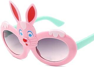 QPRER - Gafas De Sol,Rosa Bonito Conejo Clásico Niña IR De Compras Calle Gafas De Sol Verano Niños Diario Al Aire Libre Gafas Niño Playa Fiesta UV Cumpleaños Día del Niño Regalo