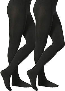 nere spesse 140 D calze termiche al ginocchio scaldamuscoli Calze da donna calze invernali 2 pezzi