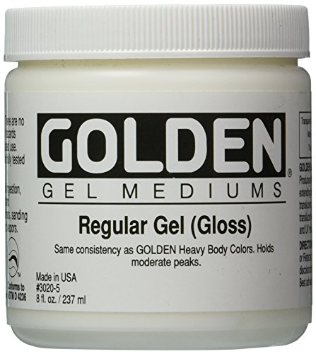 Golden Regular Gloss Gel Medium-8 ounce (30205)