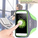 Running Armband for Cellphone, Smartphone Case with Key Holder Compatible with Apple iPhone