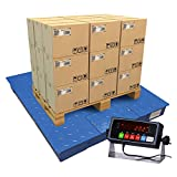 PEC Scales Steel Floor Scale, Accurate Pallet Scale with Smart Digital Indicator...