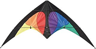 HQ Kites Bebop Series Beach and Fun Sport - Beginner Stunt Kite - 57 Inch Dual - Line Sport Kite, Color: Prisma - Active Outdoor Fun for Ages 8 and Up - Perfect for Adults or Children