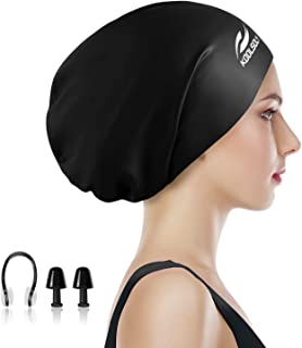 Extra Large Swimming Cap for Long Hair by KOOLSOLY,Large...