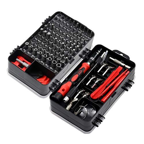 SPNEC Destornillador Juego 135 en 1 bit Precision Tornillo magnético Torx bits Aislado MultiTools Reparación de teléfonos Herramientas de Mano Juego de Herramientas (Color : B)