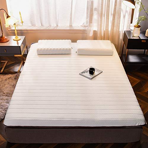 Comfort opvouwbare Tatami matras, latex matras topper, 10 cm dik ademend draagbaar matraskussen