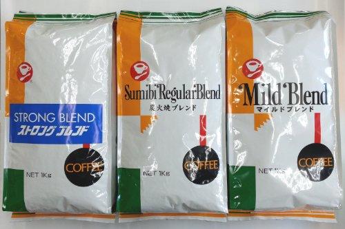 【徳用 3袋 セット 】 レギュラー コーヒー 【 豆 】 1kg 入り X 3 袋 ( ミル挽き無し )