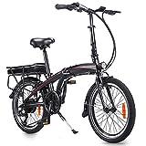 Velo Electrique, moma Bikes Electrique, Velo Pliable, 5 Shift Intelligent Control System, La Batterie Amovible, Cadre Pliant en Alliage d'aluminium, Batterie 10AH Ultra-Longue Portée, 3 Modes Riding