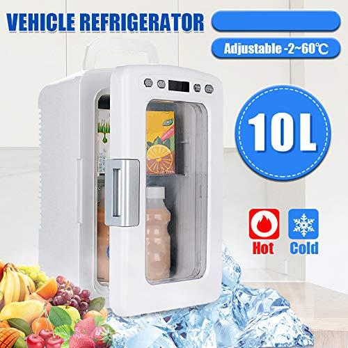 TJCB 10L Auto Kühlschrank tragbare Mini-LED-Auto-Kühlraum Frischhalte schnell Lasting Temperatur hält Einstellbare Kühlkompressor