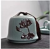 XiYou Mini Decorativo Cremación para Cenizas Humanas paraUrna funeraria de Cenizas para Cenizas humanas, pequeña cerámica Pintada a Mano, urna funeraria en el hogar, contenedores funerarios