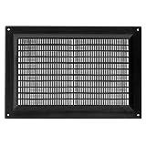 Cubierta protectora de plástico negro de 22,8 x 15,2 cm, cubierta de conducto de ventilación HVAC, tapa de ventilación – Dimensiones exteriores: 22,8 x 17,7 cm