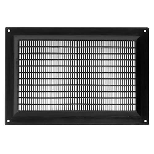250x170mm Schwarz Lüftungsgitter Insektenschutz Gitter Lüftung aus ABS Kunststoff 25x17 cm