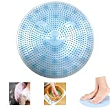 SOLIFEGOBLE Foot Brush Massager, Non Slip Shower Mats Bath Tub Mat Suction Cups, Lazy Foot Acupressure Silicone Pad, Foot Cleaner Exfoliator Pads (Blue)