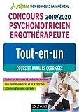 Concours 2019/2020 Psychomotricien Ergothérapeute - Tout-en-un - Cours et annales corrigées