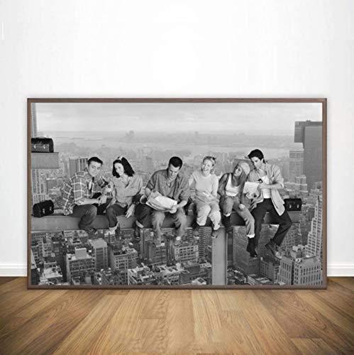 CINRYTN Lienzo Posters Friends TV Show Art Poster Print New York Skyline Print Regalos Cuadros De Pared para Sala De Estar Decoración del Hogar 50 * 70Cm Sin Marco