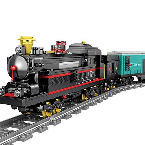YOU339 Modelo de construcción de tren de ingeniería, tren de construcción con un motor, piezas de construcción, juguetes para niños, juguetes educativos para Lego (841 + unidades)