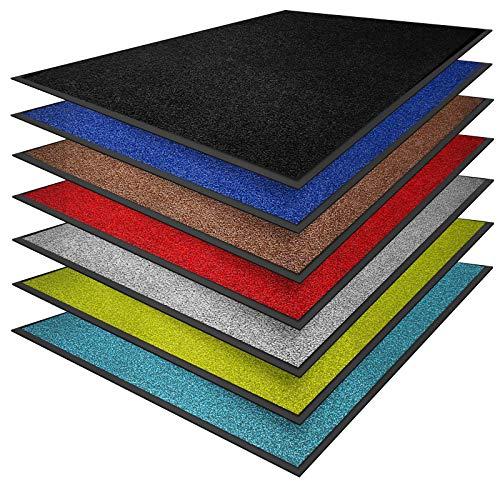 casa pura® Premium Fußmatte in attraktiver Optik | Schmutzfangmatte in vielen Größen | hellgrau | 60x90cm