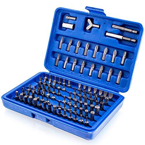 BITUXX® Bitsatz 100 tlg Werkzeugkoffer Werkzeug Sechskant Vielzahn Torx Innen Sechskant Steck Nüsse Bits Bit Set
