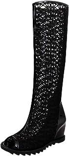 Brizz Damesschoenen, sexy holle vis mond sandelhout, lang, opladen, ritssluiting, toename van de binnenste schoenen, sexy ...