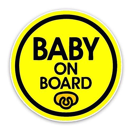 XXYMCB 14,5 * 14,5 cm Auto Aufkleber BabyOn Board Schnuller Sicherheit Vorsicht Zeichen Für Auto Stoßstange Dekoration 3 stücke