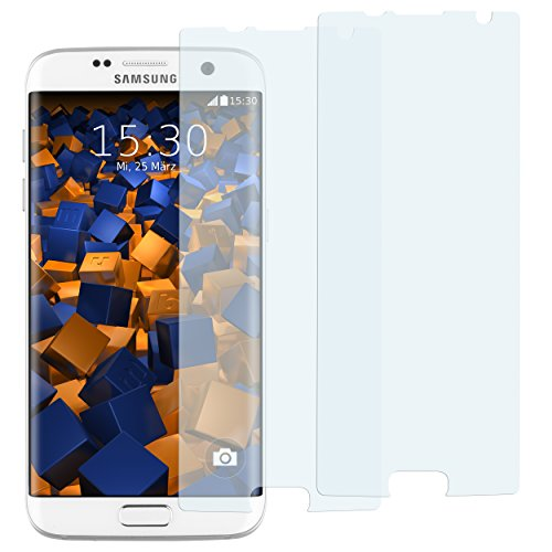 mumbi Schutzfolie kompatibel mit Samsung Galaxy S7 Edge Folie klar, Bildschirmschutzfolie (2X)