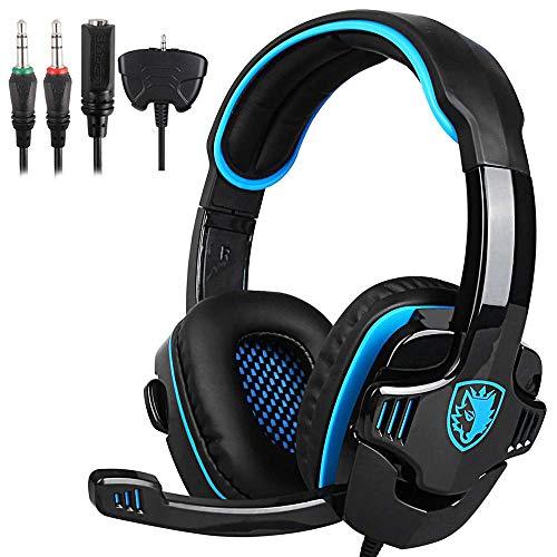 SADES SA-708 GT Upgrade-Version Gaming Headset and music headphones for PS4...