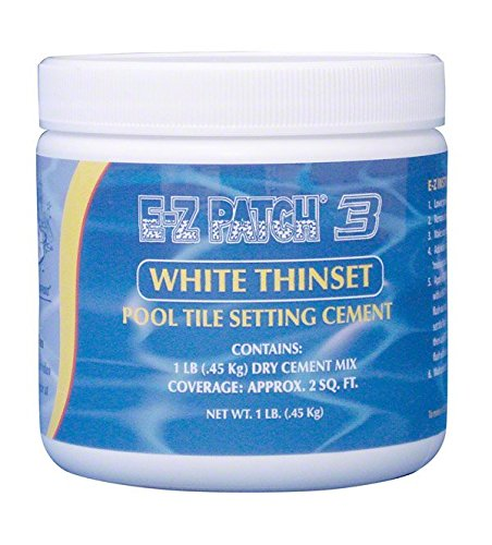 E-Z Patch 3 White Thinset Pool Tile Repair Cement 1 lb.