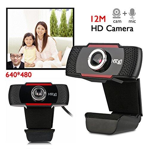Domybest Webcam USB HD da 12 Megapixel para PC Cámara Webcam con micrófono para videoconferencia Webcam para ordenador portátil, ordenador de sobremesa