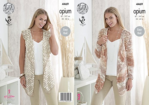 King Cole dames waterval vest & vest Opium breien patroon 4469