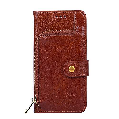 PTTDR Hülle Für HOMTOM S7 hülle Flip Brieftaschenreißverschluss Leder + TPU Silikon Fixierh Schutzhülle Hülle
