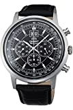 Orient Herren Chronograph Quarz Uhr mit Leder Armband FTV02003B0