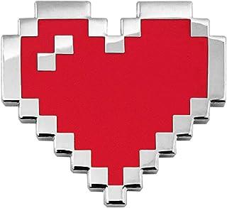 Pinsanity Retro 8-Bit Pixel Heart Enamel Lapel Pin