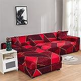 Fundas de sofá de Estilo L con diseño a Cuadros, Fundas de sofá de Esquina seccional de Spandex, Funda de sofá Chaise Longue, Funda de sofá A5 de 4 plazas