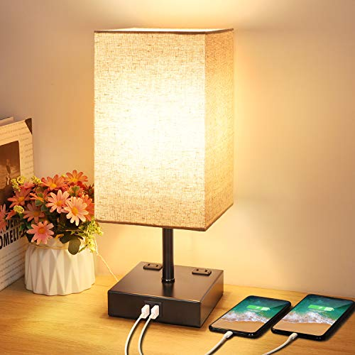 3 Way Dimmable Touch Control Table Lamp, Modern Bedside Desk Lamp with -