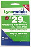 Best International Sim Cards - Lycamobile $29 Plan Preloaded Sim Cards Include 2 Review