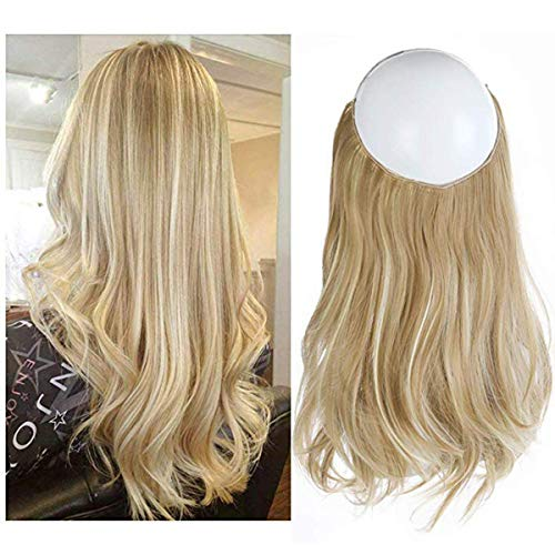 SARLA Ash Blonde Balayage Natural Blonde Halo Secret Hairpiece