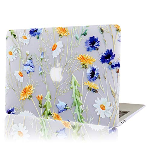 AUSMIX MacBook Pro Retina 13 Inch Case, Ultra Slim Hard Plastic Rubberized Protective Shell Stylish Innovative ONLY for Mac Pro 13 with Retina Display (Models: 1502 & A1425) - Fresh Flower