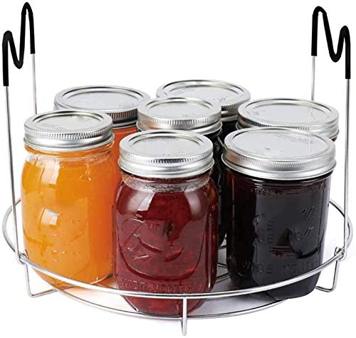 COLIBYOU Canning Rack, Stainless Steel Canning Jar Rack, Canner Rack, No Rust, Stability, Canning Rack for Regular Mouth and Wide Mouth Mason Jars, Ball Jars Storage Organizer