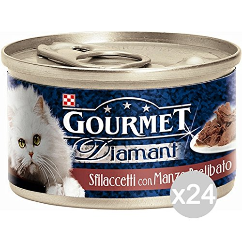 Set 24 PURINA Diamant Gr 85 Gourmet Chunks Boeuf Aliments Pour Chats