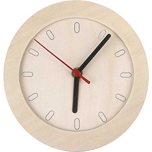 544260 Create Craft - Uhr mit Holzrahmen, 15 cm, Sperrholz, 1 Stück