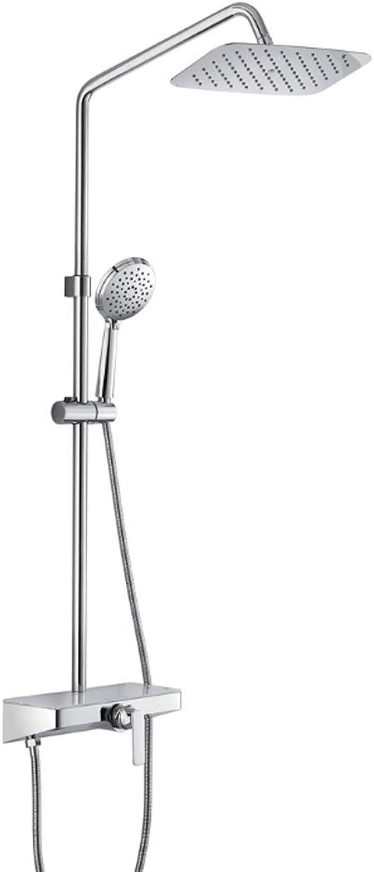 Tochange Regendusche-System für die Badewanne, Wandmontage-Brausemischer-Set mit 12-Zoll-Brausekopf + 3-Funktions-Handbrause + Armaturen