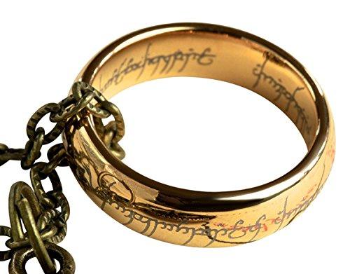 Anillo con cadena de El señor de los anillos, con caja