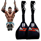 RIMSports Ab Straps for Pull up Bar Ideal Hanging ab Straps Pull up Bar Straps and Hanging Arm Straps for Abs Elbow Hanging Straps and Gym Straps for Hanging Leg Raises (Red)