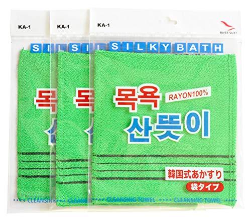 韓国発 韓国式あかすり 袋式 3枚セットKA-1A