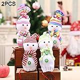 2 PCSクリスマスイブ雪だるま人形アップルギフトバッグ、ランダムスタイル配達、サイズ:10 * 25センチメートル zhangpopoqiye