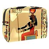 Bolsa de cosméticos para Mujeres Egipto Faraón Bolsas de Maquillaje espaciosas Neceser de Viaje Organizador de Accesorios