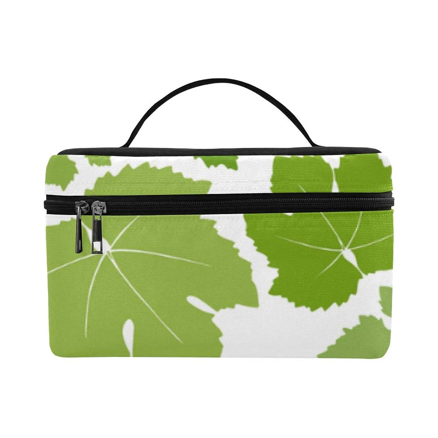 ごちそう負荷雄弁なLNJKD メイクボックス ぶどうの葉 コスメ収納 化粧品収納ケース 大容量 収納ボックス 化粧品入れ 化粧バッグ 旅行用 メイクブラシバッグ 化粧箱 持ち運び便利 プロ用