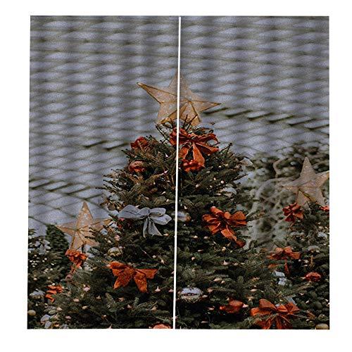 TAOJUNXI Cortinas Dormitorio para Decoracin De Ventana Navidad Habitacin - Disfrazarse De Navidad - Cortinas De Reduccin De Ruido Modernos Navidad Fiesta Cortinas 140Cm(W) X270Cm(H) X2