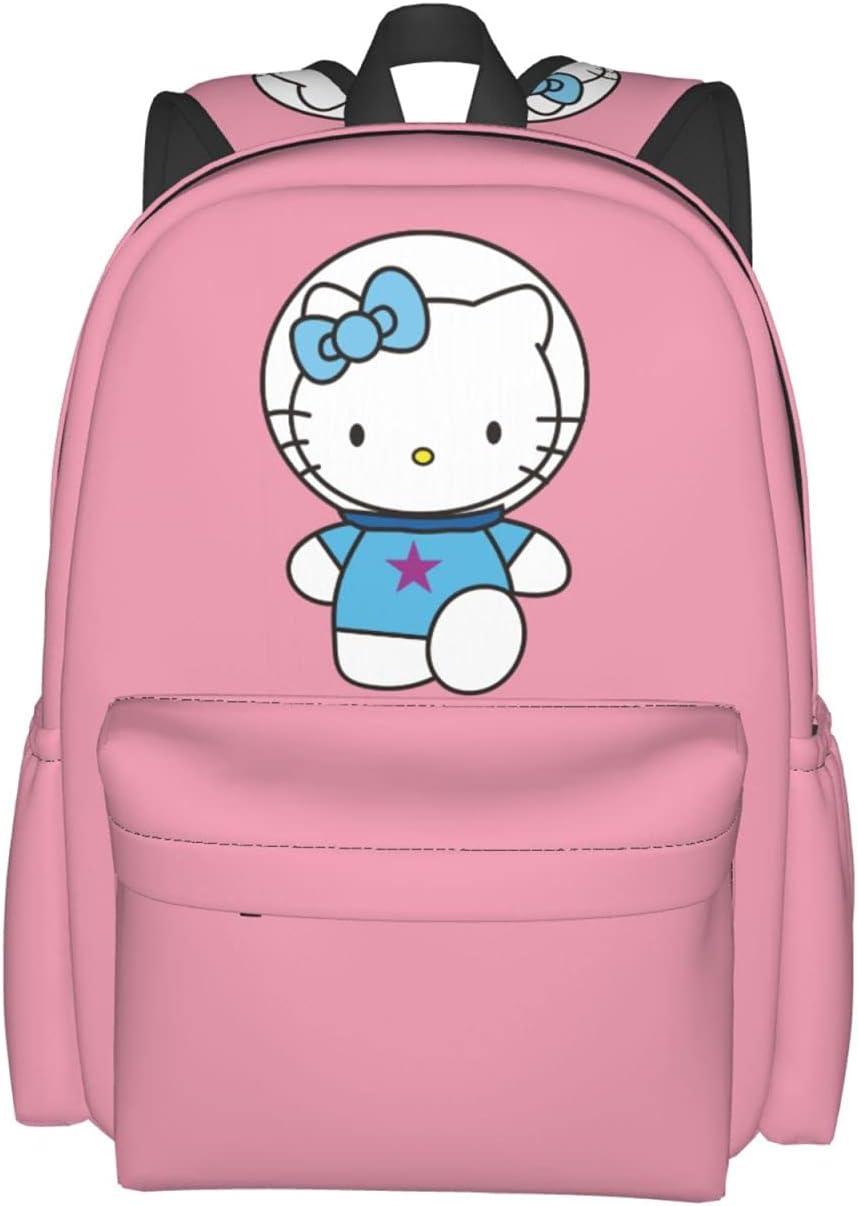 Pink Hello Kitty Print Backpack High San 2021 model Francisco Mall Girls For Capacity Women